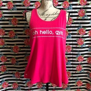 """Ideology Active """"Oh hello, gym"""" Graphic Tank Top"""